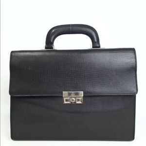 Auth GUCCI Business Bag Leather G21BB82